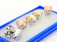 Butang Baju Berlian Buatan Cahaya Oren (Besar)