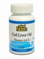 Natural Factors Cod Liver Oil (90 softgels)
