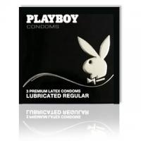 Playboy Lubricated Regular Condoms 3 Pack