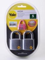 Yale Y120-50MM KAX2P Padlock (2 pcs)