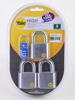 Yale Y120-50 KAX3P Padlock (3 pcs)