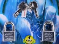 Buick 40mm K/A S/S Padlock (4 pcs)
