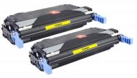 TonerGreen CE402A 507A Yellow Compatible Printer Toner Cartridge Value Pack 2X