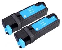 TonerGreen DocuPrint C1190FS (CT201261) Cyan Compatible Printer Toner Cartridge Value Pack 2X