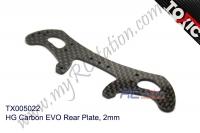 HG Carbon EVO Rear Plate, 2mm #TX005022