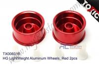 HG LightWeight Aluminum Wheels, Red 2pcs  #TX006018
