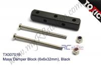 Mass Damper Block (6x6x32mm), Black  #TX007019