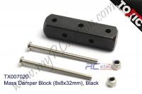 Mass Damper Block (8x8x32mm), Black  #TX007020