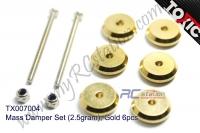 Mass Damper Set (2.5gram), Gold 6pcs #TX007004