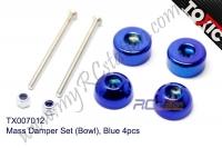 Mass Damper Set (Bowl), Blue 4pcs  #TX007012