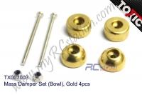 Mass Damper Set (Bowl), Gold 4pcs  #TX007003