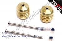 Mass Damper Set Heavy, Gold 2pcs  #TX007002