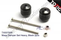 Mass Damper Set Heavy, Black 2pcs  #TX007009