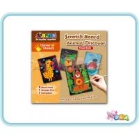 School Time Arts & Crafts - Scratch Board Animal