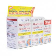 Twin Pack: Live-well OsteSAMIN Plus Chondroitin & MSM Powder (2 x 30 Sachets)
