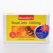 Value Pack: Kordel' s Royal Jelly 1000mg (3 Bottles x 30 Capsules)
