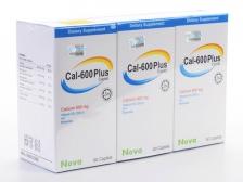 Value-Pack: Nova Cal-600Plus Caplet (3 Bottles x 60 Caplets)