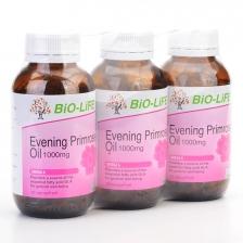 Bio-Life Evening Primrose Oil 1000mg (3 Bottles x 100 Vegicaps)