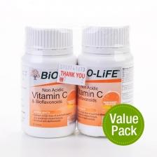 Bio-Life Vitamin & Bioflavonoids (Non Acidic) (2 Bottles x 30 Tablets)