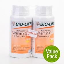 Bio-Life Vitamin & Bioflavonoids (Non Acidic) (2 Bottles x 90 Tablets)