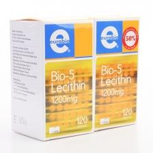 Eurobio Bio-5 Lecithin 1200mg (2 Bottles x 120 Capsules)