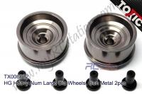 HG Heavy Alum Large Dia Wheels, GunMetal 2pcs  #TX006032