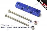 Mass Damper Block (6x6x32mm), Blue  #TX007024