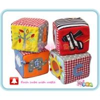 Soft Toy - ABC Soft Plush Cubes