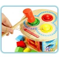 Wooden Toy - Geometry Shape Knocks Ball