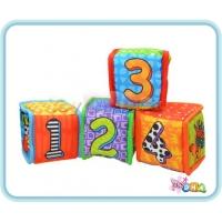 Soft Toy - 123 Soft Plush Cubes