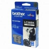 Brother LC-38BK Black Genuine Original Printer Ink Cartridge