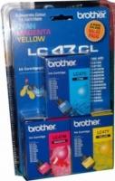 Brother LC-47CL3PK Colour Cyan + Magenta + Yellow Genuine Original Printer Ink Cartridge Value Pack 3X