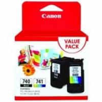 Canon PG-740 + CL-741 (5201B006AA) Black (8ml) + Colour (8ml) Genuine Original Printer Ink Cartridge Value Pack