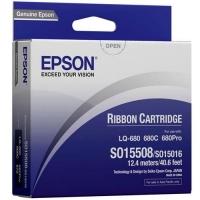 Epson S015508 Black Ribbon Cartridge