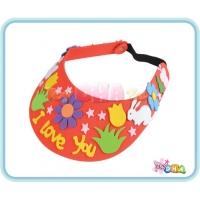 DIY EVA Form Handicraft - Crown & Sun visor cap (Pack of 4)