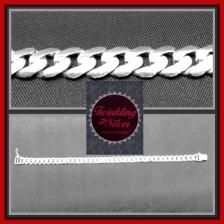Fine 925 Silver Two Side Dome Gent Bracelet