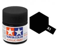 Tamiya Color Acrylic Paint X-01 (Black) (23ml)