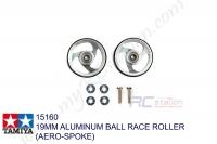 Tamiya 19MM ALUMINUM BALL RACE ROLLER (AERO-SPOKE) #15160