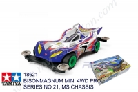 Tamiya  BISONMAGNUM MINI 4WD PRO SERIES NO 21, MS CHASSIS #18621