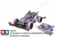 Tamiya  JR DASH-X1 PROTO EMPEROR-PREMIUM, SUPER II CHASSIS #18074