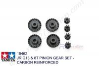 Tamiya  JR G13 & 8T PINION GEAR SET - CARBON REINFORCED #15462