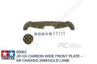 Tamiya  JR HG CARBON WIDE FRONT PLATE - AR CHASSIS 2MM/GOLD LAME #95063