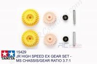 Tamiya  JR HIGH SPEED EX GEAR SET - MS CHASSIS/GEAR RATIO 3.7:1 #15429
