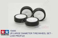 Tamiya  JR LARGE DIAMETER TIRE/WHEEL SET - LOW PROFILE #15445