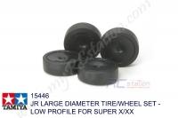 Tamiya  JR LARGE DIAMETER TIRE/WHEEL SET - LOW PROFILE FOR SUPER X/XX #15446