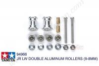 Tamiya  JR LW DOUBLE ALUMINUM ROLLERS (9-8MM)  #94966