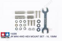 Tamiya  JR MINI 4WD HEX MOUNT SET - 10, 15MM #15395