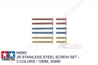Tamiya  JR STAINLESS STEEL SCREW SET - 3 COLORS / 10MM, 20MM #94940