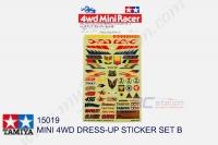 Tamiya  MINI 4WD DRESS-UP STICKER SET B  #15019