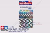Tamiya  MINI 4WD HOLOGRAM STICKER SHEET SET #15195